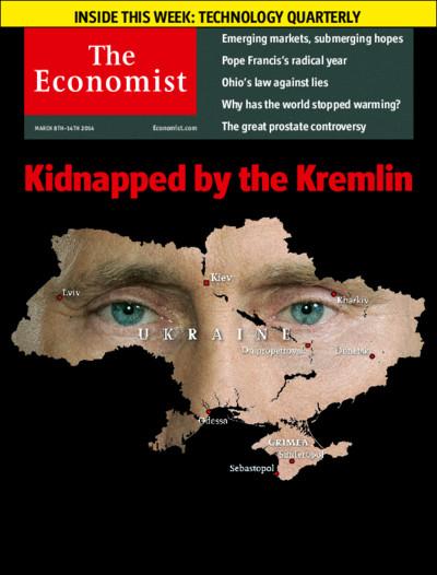 探討民主問題的本期經濟學人封面