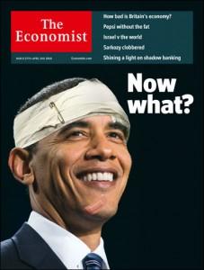 经济学人描述欧巴马情况地当期封面