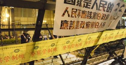 318占领立法院民众的标语(摄影/PNN公视新闻议题中心 吴柏纬)