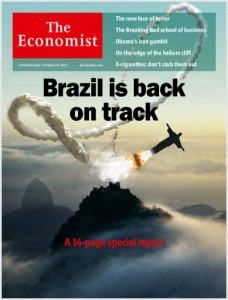 網友認為未來可能的經濟學人巴西封面特別報導,圖片來源:Soappresentations網站