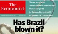英国经济学人去年即有封面特辑唱衰巴西,截图自经济学人网站