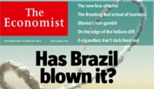 英國經濟學人去年即有封面特輯唱衰巴西,截圖自經濟學人網站