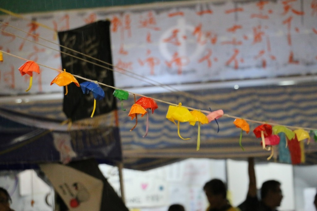 香港雨傘革命同時,千絲萬縷的網路資訊戰亦開打!攝影/戴瑜慧