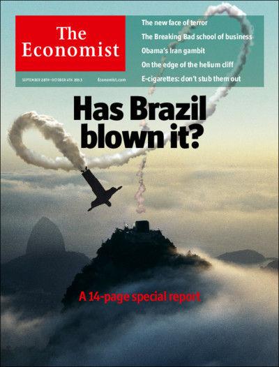 英國經濟學人去年(2013)即有封面特輯探討巴西政治經濟情勢,截圖自經濟學人網站