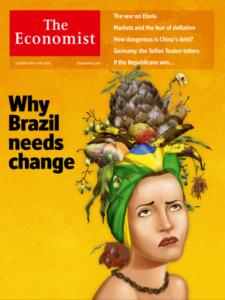 2014年10月中出刊的經濟學人封面特輯,探討巴西總統選舉