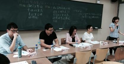 媒體公民會議場次之與談者,一起為台灣影視產業找藥方。攝影/林麗雲