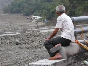 莫拉克災後甲仙鄉小林村。 圖/黃淑梅提供