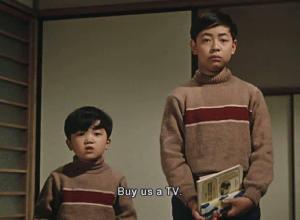 小津安二郎电影《早安》(お早よう)片段,林先生家的小孩吵着要买电视机