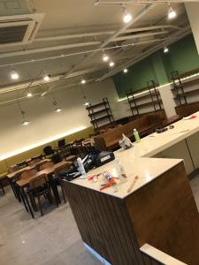 1樓裝修中的咖啡廳。(攝影/田育志)