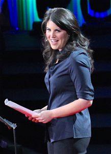 """莫妮卡.陆文斯基(Monica Lewinsky)于2015年以""""羞辱的代价""""(The price of shame)为题,在TED发表演讲。(图片作者:William Graham;授权条款:CC BY 2.0)"""