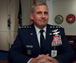 在美國國防部的30秒影片推出前幾個小時,「網飛」的同名電視劇「太空部隊」,搶早已將預告片上網。(圖片截自網飛宣傳片段)