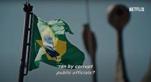 2018年3月播出的《黑金高牆》(the Mechanism),主角就是魯拉,導演將他說成是幾十億美元貪腐事件的幕後首腦。(圖片截自網飛宣傳片段)