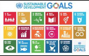 聯合國永續發展目標(SDGs)。圖:Wikimedia Commons 擷取自聯合國官網(Public Domain)